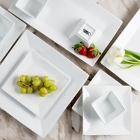 Acopa Bright White Square and Rectangular Porcelain Dinnerware