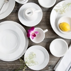 Core Bright White Wide Rim / Rolled Edge China Dinnerware