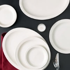 Choice Narrow Rim Ivory (American White) Stoneware Dinnerware