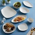 Acopa Nova Cream White Stoneware Dinnerware