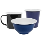 Crow Canyon Home Pacifica Enamelware Dinnerware