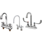 Deck Mount Faucets with Gooseneck Nozzles