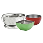 Double Wall Stainless Steel Serving Bowls