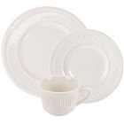 Embossed Rim Ivory (American White) China Dinnerware