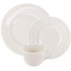 Embossed Rim Ivory (American White) China Dinnerware