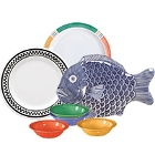 GET Creative Table Colorful Melamine Dinnerware