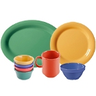 GET Diamond Mardi Gras Colorful Melamine Dinnerware