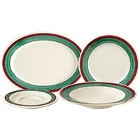 GET Diamond Portofino Colored Rim Melamine Dinnerware