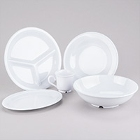 GET Diamond White Melamine Dinnerware
