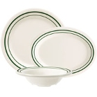 GET Emerald Green Band Melamine Dinnerware