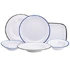 GET Settlement Bistro Enamelware Melamine Dinnerware