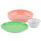 GET Settlement Oasis Colorful Rimmed Melamine Dinnerware