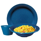 GET Texas Blue Speckled Melamine Dinnerware