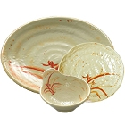 Gold Orchid & Gold Orchid Lotus Melamine Dinnerware