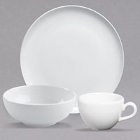 Homer Laughlin by Steelite International Nadia Arctic Bright White China Dinnerware