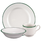 Homer Laughlin Pristine Kerry Green China Dinnerware