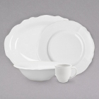 Homer Laughlin Carolyn Bright White China Dinnerware
