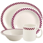 Homer Laughlin Maroon Checkers China Dinnerware