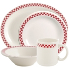 Homer Laughlin Scarlet Checkers China Dinnerware