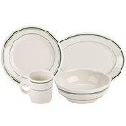 Homer Laughlin Green Band Rolled Edge China Dinnerware