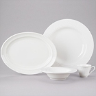 Homer Laughlin Kensington White China Dinnerware