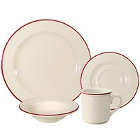 Homer Laughlin Lyrica Lydia Maroon China Dinnerware