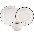 Homer Laughlin Pristine Kerry Black China Dinnerware