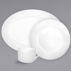 International Tableware Dresden Bright White Stoneware Dinnerware