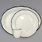 International Tableware Sydney Ivory (American White) Scalloped Edge Stoneware Dinnerware