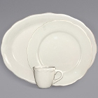 International Tableware Victoria Ivory (American White) Scalloped Edge Stoneware Dinnerware