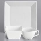 International Tableware Slope Bright White Porcelain Dinnerware