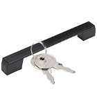 Lock, Latch, and Handle Hardware for Refrigeration Equipment