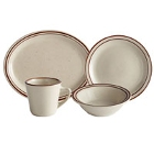 Choice Narrow Rim Brown Speckle Stoneware Dinnerware