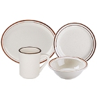 Narrow Rim Brown Speckle China Dinnerware