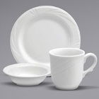 Buffalo Arcadia Bright White Porcelain Dinnerware
