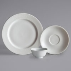 Oneida Ivy Flourish Bright White Porcelain Dinnerware