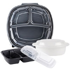 Plastic Microwaveable Take-Out Containers