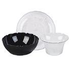 Plastic Petal Mist Dinnerware and Serveware