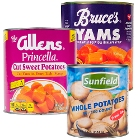 Yams, Sliced and Diced Potatoes, and Instant Potatoes