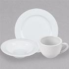 CAC Roosevelt Super White Wide Rim Porcelain Dinnerware