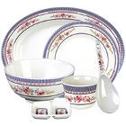 Rose Melamine Dinnerware