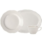 Scalloped Edge Ivory (American White) China Dinnerware