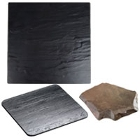Slate and Faux Slate Serving and Display Platters / Trays