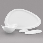 Syracuse China Slenda Royal Rideau White Porcelain Dinnerware