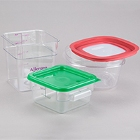 Square, Clear Food Storage Containers & Lids