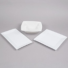 Square and Rectangular White China