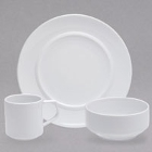 Sant'Andrea Circa Bright White Porcelain Dinnerware by Oneida