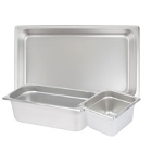 Steam Table Food Pans - Standard Weight Anti-Jam Stainless Steel
