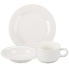 Syracuse China Cafe Royal Royal Rideau White Porcelain Dinnerware