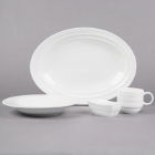 Syracuse China Resonate Royal Rideau White Porcelain Dinnerware
